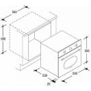 Электрический духовой шкаф Candy FCL 614/6 GH; Практичные рельефные направляющие; Эмаль легкой очистки; Конвекция; Гриль; Быстрая разморозка; Схема встраивания с размерами для варочной панели