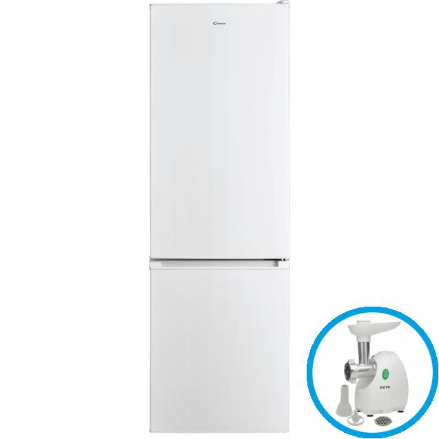 Отдельностоящий холодильник с нижней морозильной камерой Candy CMDS 6182W; Статическая технология охлаждения отлично подходит для хранения продуктов; LED освещение с электронным управленим