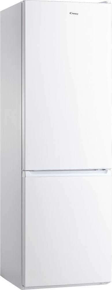 Отдельностоящий холодильник с нижней морозильной камерой Candy CMDS 6182W; Удобная ручка для открытия дверей, большое количество полок для еды, и внутреннее LED освещение с электронным управленим