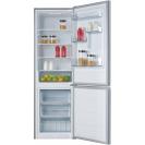 Отдельностоящий холодильник с нижней морозильной камерой Candy CMDCS 6182X09; Удобная ручка для открытия дверей, большое количество полок для еды, и внутреннее LED освещение с электронным управленим