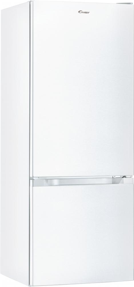 Отдельностоящий холодильник с нижней морозильной камерой Candy CMCL 5142WN; Удобная ручка для открытия дверей, большое количество полок для еды, и внутреннее LED освещение с электронным управленим
