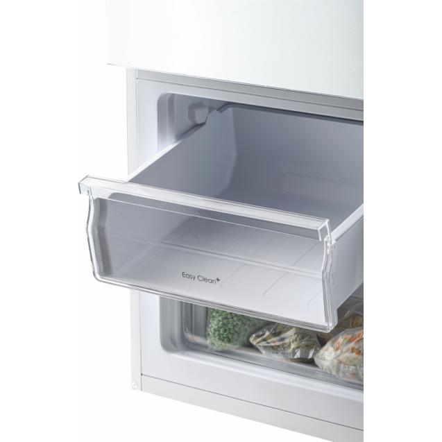 Отдельностоящий холодильник с нижней морозильной камерой Candy CMCL 5142WN; Стеклянные полки более устойчивы, лучше сохраняют свежесть;Возможность перенавешивания двери;2 ящика в морозильном отделении