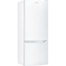 Стоїть окремо холодильник з нижньою морозильною камерою Candy CMCL 5142WN; Зручна ручка для відкриття дверей, велика кількість полиць для їжі, і внутрішнє LED освітлення з електронним керуванням