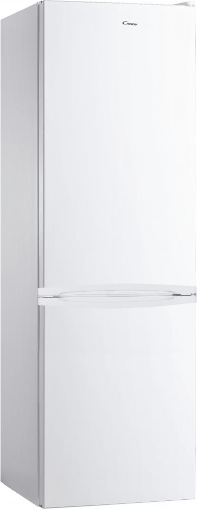 Стоїть окремо холодильник з нижньою морозильною камерою Candy CMDS 6182WN; Зручна ручка для відкриття дверей, велика кількість полиць для їжі, і внутрішнє LED освітлення з електронним керуванням