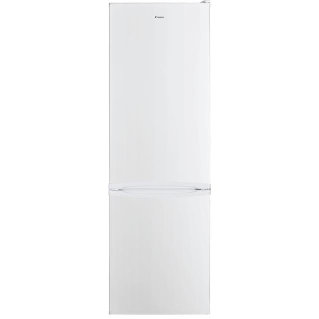 Стоїть окремо холодильник з нижньою морозильною камерою Candy CMDS 6182WN; Статична технологія охолодження відмінно підходить для зберігання продуктів; LED освітлення з електронним керуванням