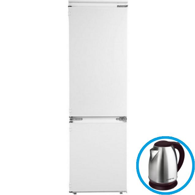 Вбудований холодильник з нижньою морозильною камерою Candy CKBBS 100; Система охолодження - статична; LED освітлення з електронним керуванням; Зона свіжості; Інтегровані ручки в новому стилі