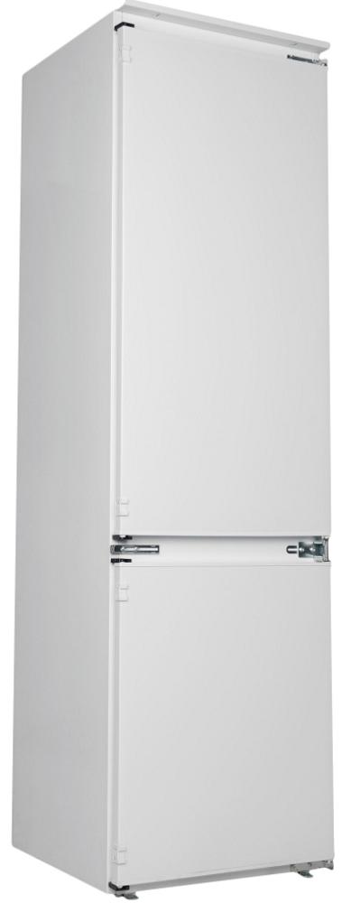 Встраиваемый холодильник с нижней морозильной камерой Candy BCBF 182 N; Комбинированная система охлаждения динамическая/NoFrost; Металлическая стойка для бутылок; Зона свежести