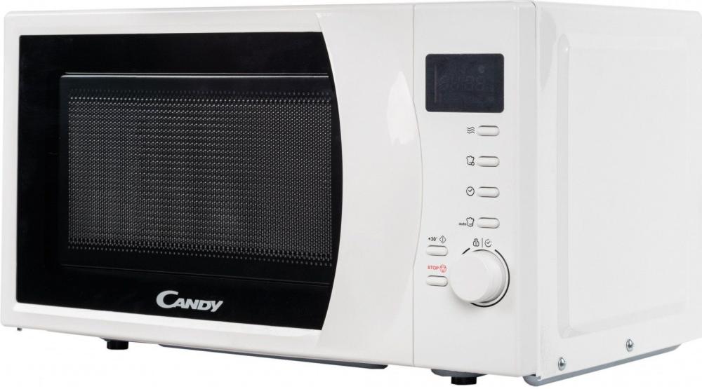 Отдельностоящая мікрохвильова піч Candy CMW2070DW; Потужність 700Вт; Обсяг камери 20л; Функція розморожування; 6 рівнів потужності дозволять вибрати потрібний режим приготування; автоматичні програми