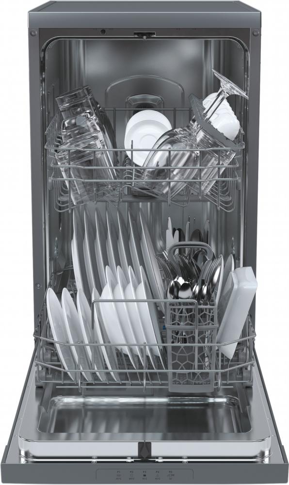 Вузька окремостояча посудомийна машина Candy CDPH 1L952X; Сушка посуду - конденсаційна; Кількість комплектів - 9; Режим попереднього замочування; Функція ZOOM - швидкий цикл мийки