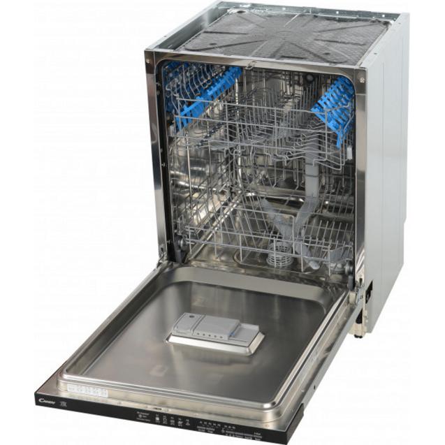 Повногабаритна вбудована посудомийна машина Candy CDI 1L38 / T; Сушка посуду - конденсаційна; Режим попереднього замочування; Програма дезінфекції при t 75 ° C; Кількість комплектів - 13