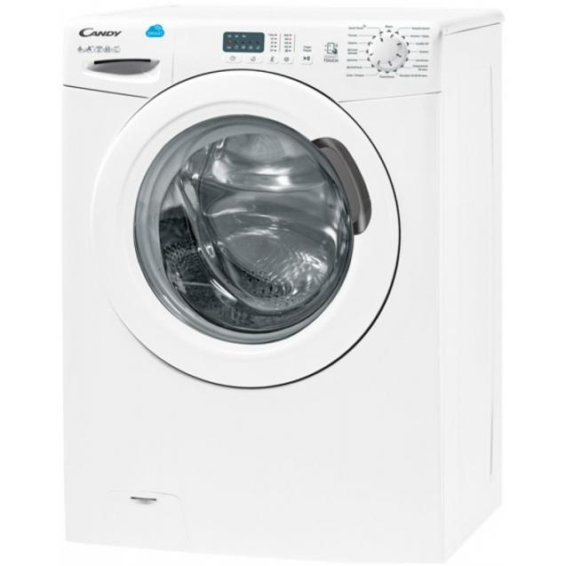 """Вузька пральна машина CS4 1051D1 / 2-07; технологія SMART TOUCH; технологія - Кг детектор; Функція """"Статистика""""; вид зліва, ребра жорсткості для поглинання значної частини вібрацій"""
