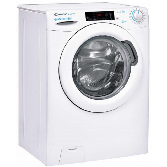 Вузька пральна машина Candy CSO4 1265T3 / 1-S, максимальне завантаження - 6 кг, технологія SIMPLY-FI, функція Відкладений старт; вид праворуч, ребра жорсткості для поглинання значної частини вібрацій