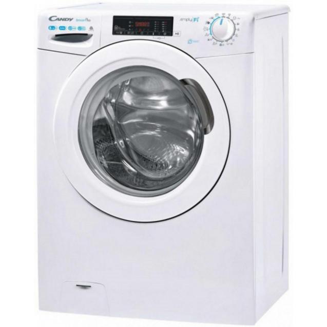 Вузька пральна машина Candy CO4 1172D3 / 1-S, максимальне завантаження - 6 кг, технологія SIMPLY-FI, функція Відкладений старт; вид зліва, ребра жорсткості для поглинання значної частини вібрацій