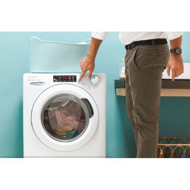Пральна машина повнорозмірна Candy CSO 1285TE-S; Технологія SMART TOUCH і ACTIVE MOTION; 9 режимів швидкого прання; режим EASY IRON; гармонійно вписується в будь-який стиль інтер'єру