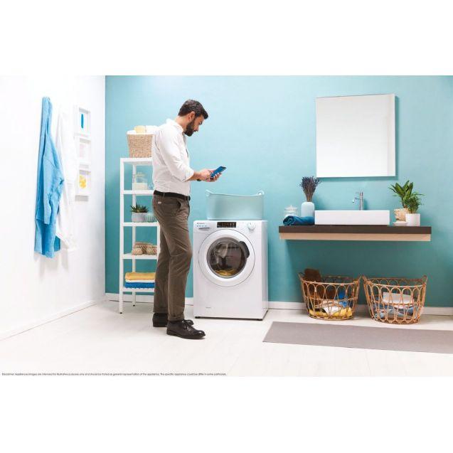 Вузька пральна машина повнорозмірна Candy CSO4 1265TE / 1-S; максимальне завантаження - 6 кг; Технологія SMART TOUCH; 9 режимів швидкого прання; гармонійно вписується в будь-який стиль інтер'єру
