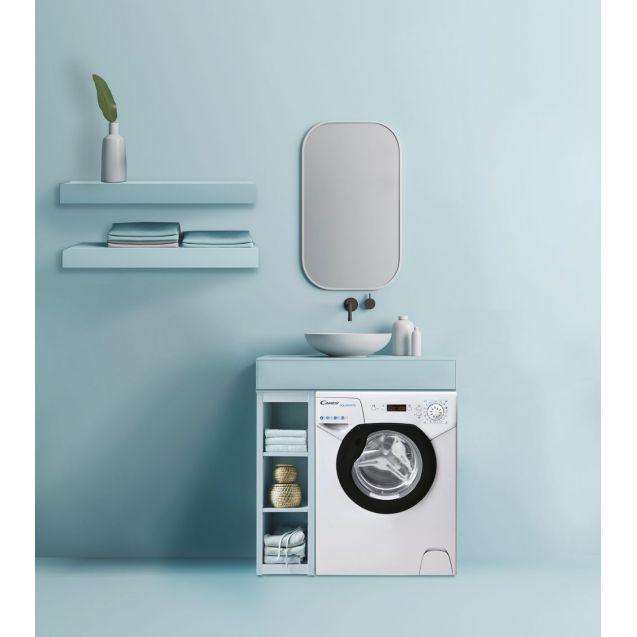 Компактна пральна машина Candy AQUA1142DBE / 2-S; Aquamatic з легкістю можна встановити під мийкою на кухні, в тісних приміщеннях або навіть в шафі; максимальне завантаження-4 кг