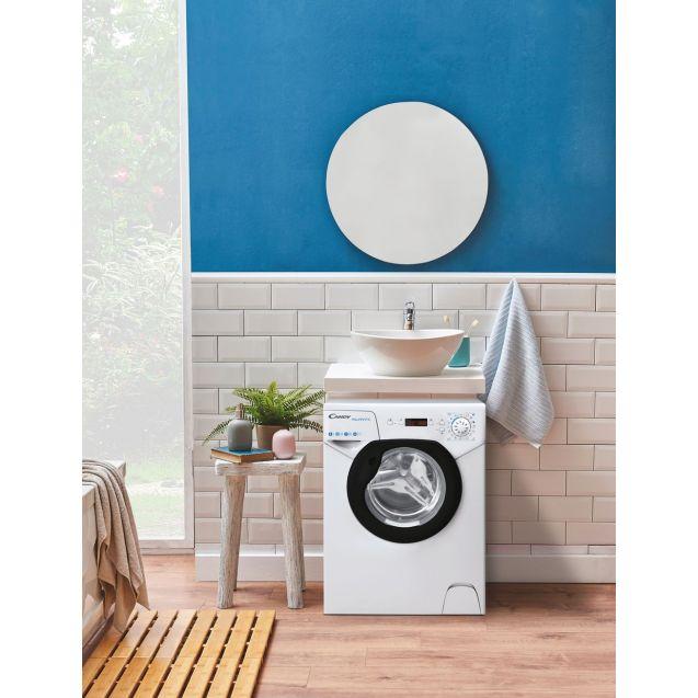 Компактна пральна машина Candy AQUA1142DBE / 2-S; максимальна швидкість віджиму - 1100 об / хв; максимальне завантаження-4 кг, компактна пральна машина Aquamatic-ідеальне рішення для маленьких приміщень