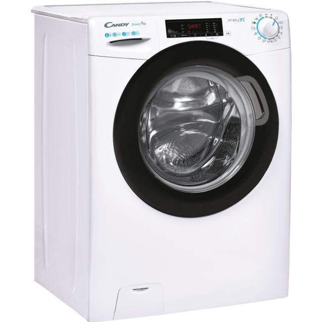 Вузька пральна машина CO4 1265TWBE / 1-S; максимальна швидкість віджиму - 1200 об / хв; максимальне завантаження-6 кг; 9 режимів швидкого прання; вид праворуч, ребра жорсткості для поглинання вібрацій