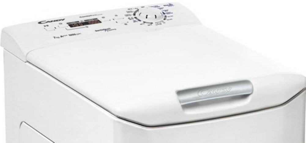 Вузька пральна машина Candy CSTG 28TE / 1-S; Максимальна швидкість віджиму-1200 об / хв; максимальне завантаження - 8 кг; Технологія Gentle Touch Opening - відкриття кришки одним дотиком