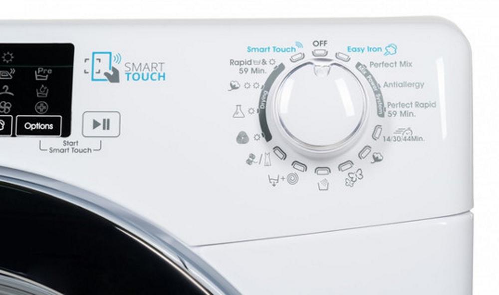 Стирально-сушильная машина Candy GVSW45485TWHC/5S управление