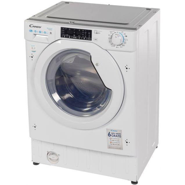 Вбудована прально-сушильна машина повнорозмірна Candy CBDO485TWME / 1-S з фронтальним завантаженням; з інверторним двигуном; Максимальна швидкість віджиму-1400 об / хв; Технологія SMART TOUCH
