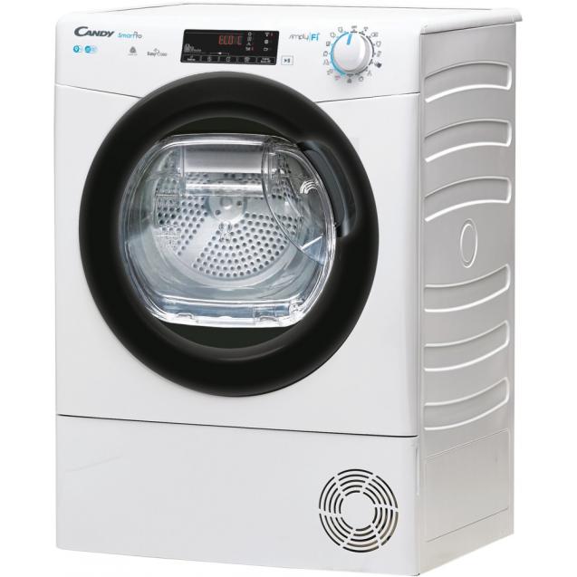 Сушильная машина полноразмерная CSO C9TBE-S; Приложение Candy simply-Fi-дополнительный программы; Кг детектор;Технология EASY CASE; вид слева ребра жесткости для поглощения значительной части вибраций