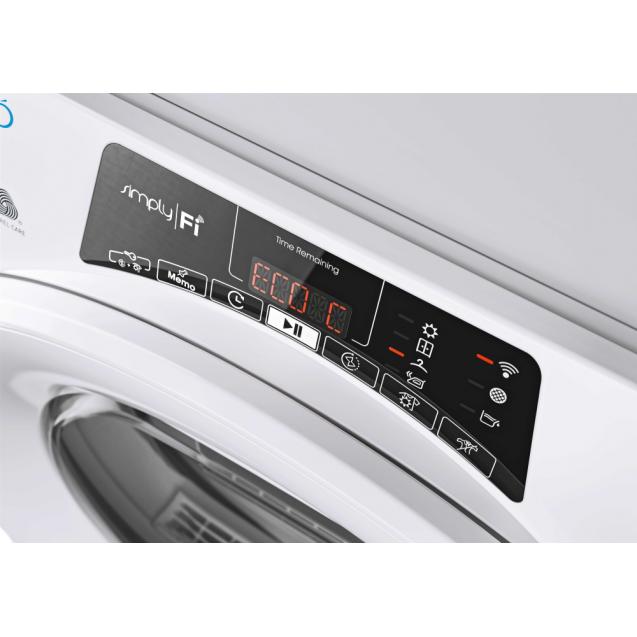 Сушильная машина полноразмерная Candy RO H8A2TE-S с тепловым насосом; Приложение Candy simply-Fi - дополнительный программы; Программы быстрой стирки и сушки; Понятная и удобная панель управления