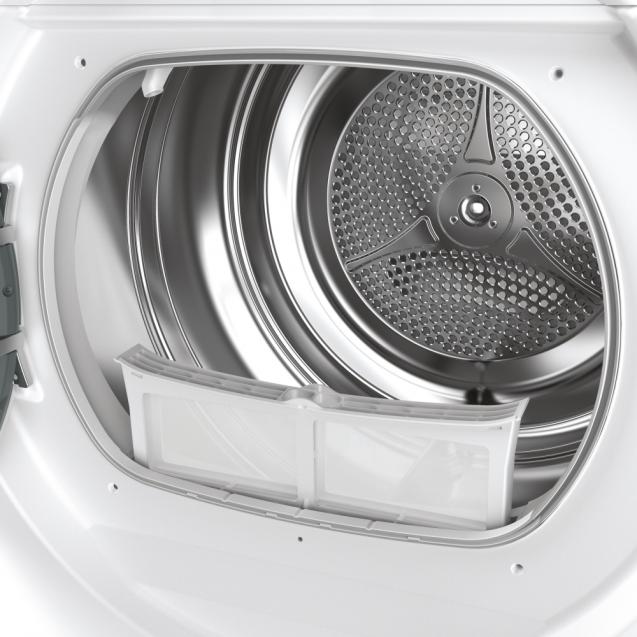 Сушильная машина полноразмерная Candy RO H8A2TE-S с тепловым насосом; Приложение Candy simply-Fi - дополнительный программы; Программы быстрой стирки и сушки; Бак из нержавеющей стали