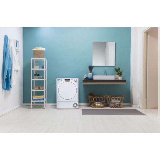 Сушильна машина повнорозмірна Candy CSO C7DF-S; Швидкі програми прання і сушіння; Додаток Candy simply-Fi - додатковий програми; Кг детектор; гармонійно вписується в будь-який стиль інтер'єру