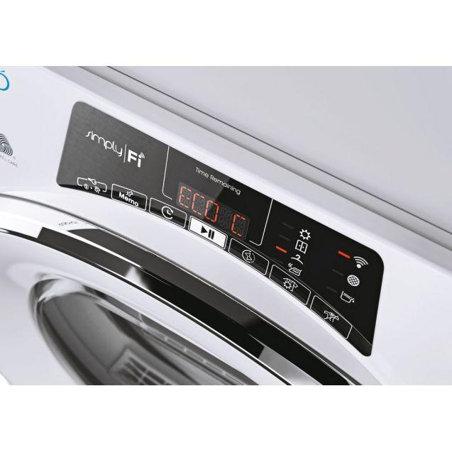 Вузька сушильна машина Candy RO4H7A1TCEX-S з тепловим насосом; максимальне завантаження - 7 кг; Додаток Candy simply-Fi - більше 20 додатковий програм; Зрозуміла і зручна панель управління