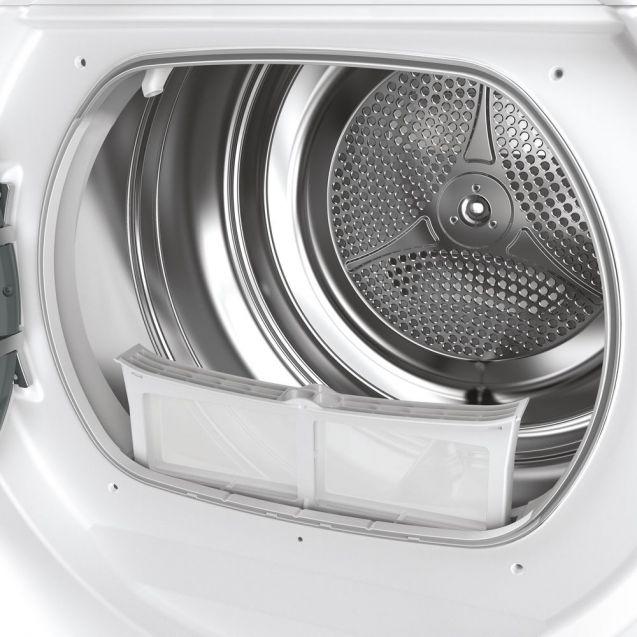 Вузька сушильна машина Candy RO4H7A1TCEX-S з тепловим насосом; максимальне завантаження - 7 кг; Додаток Candy simply-Fi - більше 20 додатковий програм; Великий і зручний завантажувальний люк