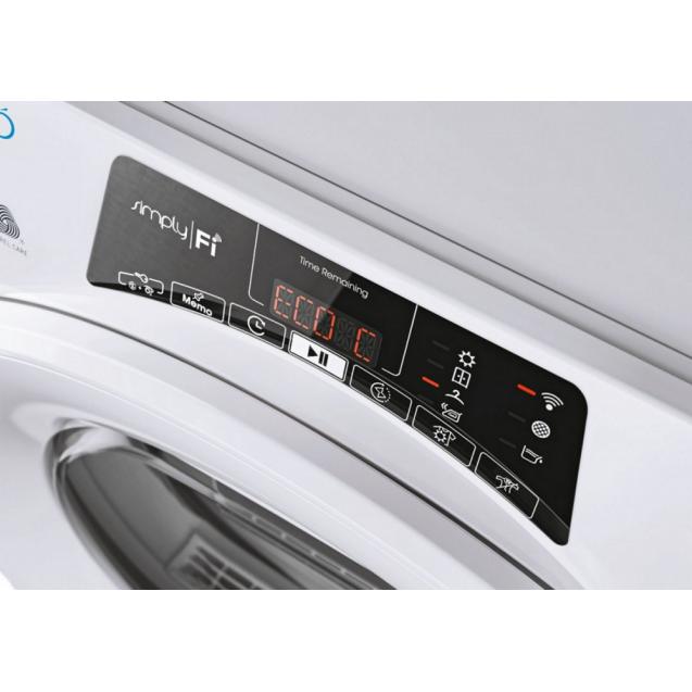 Вузька сушильна машина Candy RO4H7A1TEX-S з тепловим насосом; Додаток Candy simply-Fi - більше 20 додатковий програм; Цикли сушки на будь-який смак; EASY IRON; Зрозуміла і зручна панель управління