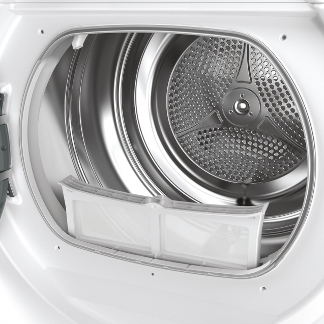 Сушильна машина повнорозмірна Candy ROE H8A2TE-S з тепловим насосом; максимальне завантаження - 8 кг; Додаток Candy simply-Fi - додатковий програми; Бак з нержавіючої сталі