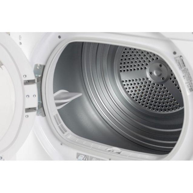 Вузька вбудована сушильна машина Candy RO 1496DWME / 1-S з тепловим насосом; максимальне завантаження - 7 кг; Додаток Candy simply-Fi - додатковий програми; Великий і зручний завантажувальний люк