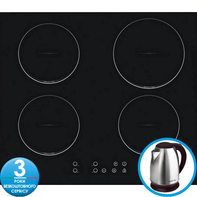 Індукційна варильна поверхня Candy CI640C; склокераміка; Сенсорне управління; Функція - захист від переливу; Індикатор залишкового тепла; таймер; Функція регулювання харчування-Power Management