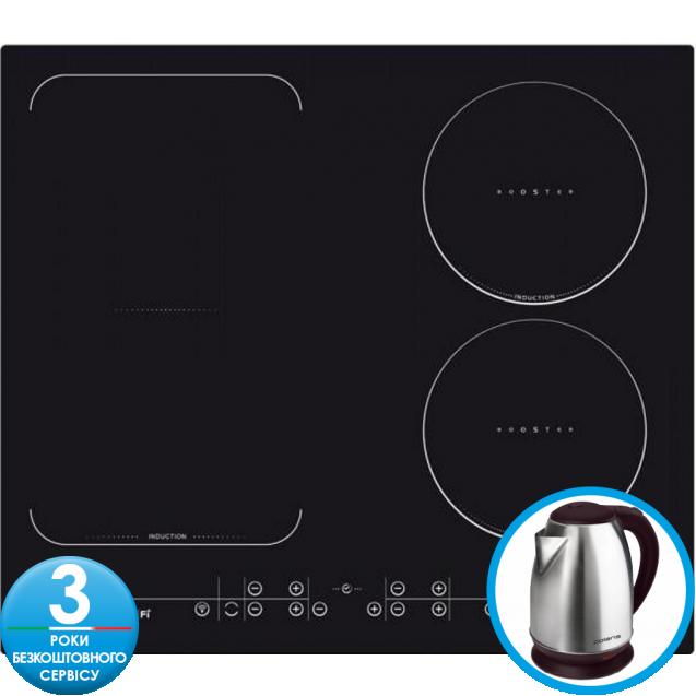 Індукційна варильна поверхня Candy CFID 36 WiFi; Підключення до WiFi; склокераміка; Сенсорне управління; Захист від переливу; Індикатор залишкового тепла; таймер; Захист від дітей;
