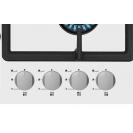 Газова варильна поверхня Candy CSVG64SGB; Просте і зручне управління; Газ-контроль; Матеріал поверхні - загартоване скло; Конфорка з подвійним рядом полум'я; Просте і зручне управління