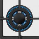 Газова варильна поверхня Candy CSVG64SGB; Просте і зручне управління; Стильні та міцні чавунні решітки; Газ-контроль; Матеріал поверхні - загартоване скло; Конфорка з подвійним рядом полум'я