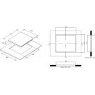Индукционная варочная поверхность Candy CH 64 DVT; Стеклокерамика; Сенсорное управление; Функция - защита от перелива; Индикатор остаточного тепла; Схема встраивания с размерами для варочной панели