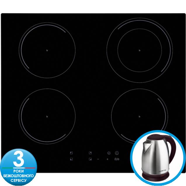 Індукційна варильна поверхня Candy CIC642; склокераміка; Сенсорне управління; Індикатор залишкового тепла; Блокеровка від дітей; Функція Бустер Booster дозволяє збільшити потужність конфорок