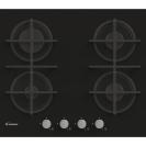 Газова варильна поверхня Candy CVG6B; Просте і зручне управління; Стильні та міцні чавунні решітки; Газ-контроль - електромагнітний для кожного пальника; Матеріал поверхні -закаленное скло
