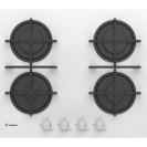 Газова варильна поверхня Candy CVG6WW; Просте і зручне управління; Стильні та міцні чавунні решітки; Газ-контроль - електромагнітний для кожного пальника; Матеріал поверхні-загартоване скло