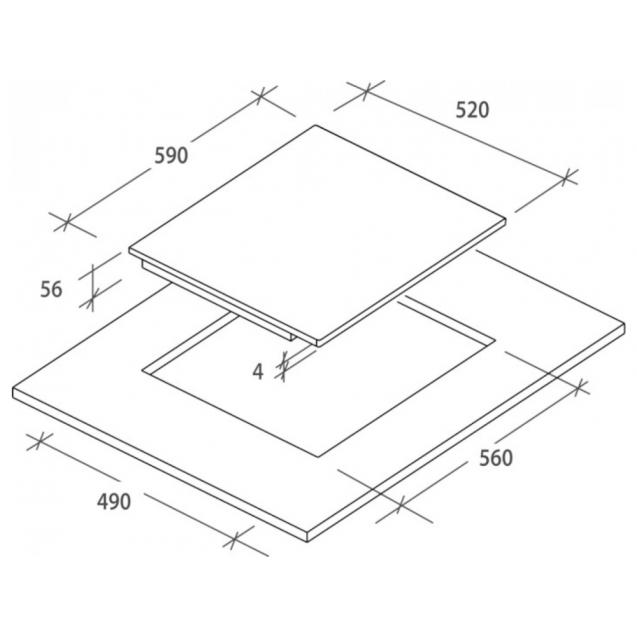 Індукційна варильна поверхня Candy CI 642 C / 4U; склокераміка; Сенсорне управління; Індикатор залишкового тепла; таймер; Блокеровка від дітей; Схема вбудовування з розмірами для варильної панелі
