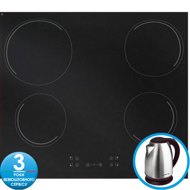 Індукційна варильна поверхня Candy CH64CCB / 4U; склокераміка; Сенсорне управління; Функція - захист від переливу; Індикатор залишкового тепла; таймер; Блокеровка від дітей