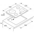Індукційна варильна поверхня Candy CH64CCB / 4U; склокераміка; Сенсорне управління; Функція - захист від переливу; Індикатор залишкового тепла; Схема вбудовування з розмірами для варильної панелі