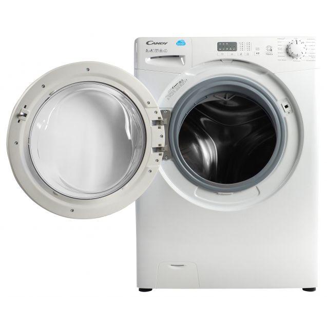 """Вузька пральна машина Candy CS34 1051D1 / 2-07; максимальне завантаження - 5 кг, технологія SMART TOUCH, з функцією """"Відкладений старт""""; швидкі програми; бак - нержавіюча сталь"""
