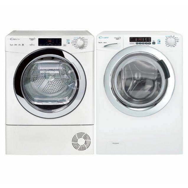 ГОТОВИЙ КОМПЛЕКТ CANDY: сушильна машина GVS4 H7A1TCEX-S + пральна машина GVS 138TC3-S