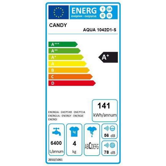 Пральна машина Candy AQUA 1042D1/2-S зображення